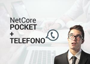 NetCore POCKET + TELEFONO - Social Facebook